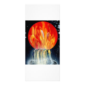Pintura a pistola de la llama de la cascada redond diseños de tarjetas publicitarias