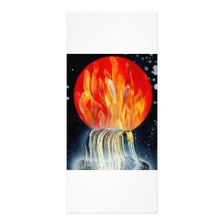 Pintura a pistola de la llama de la cascada redond tarjeta publicitaria a todo color
