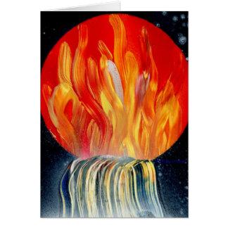 Pintura a pistola de la llama de la cascada tarjeta pequeña