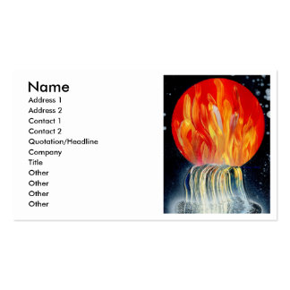 Pintura a pistola de la llama de la cascada tarjetas de visita