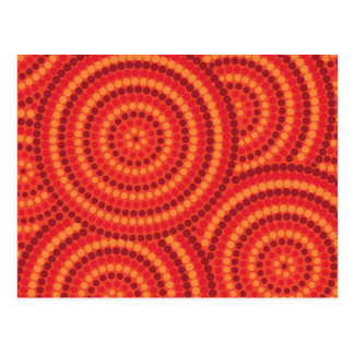 Pintura aborigen del punto postal