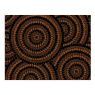 Pintura aborigen del punto postales