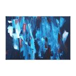 """Pintura abstracta 51"""" dicha lona envuelta para galerias"""