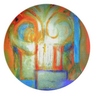 Pintura abstracta A con plata y color Platos Para Fiestas