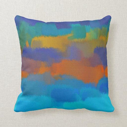 Pintura abstracta abstracta 13 del arte el | cojin