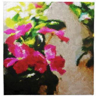 Pintura abstracta abstracta del arte el   servilleta