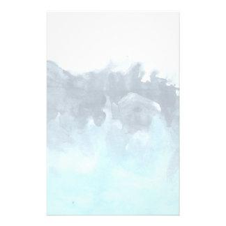 Pintura abstracta acodada de los azules personalized stationery