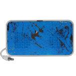 Pintura abstracta azul 2 altavoces de viaje