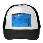 Pintura abstracta azul 2 gorras