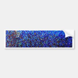 Pintura abstracta azul de la salpicadura de la pin pegatina de parachoque