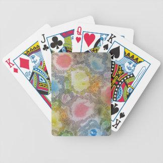Pintura abstracta baraja de cartas