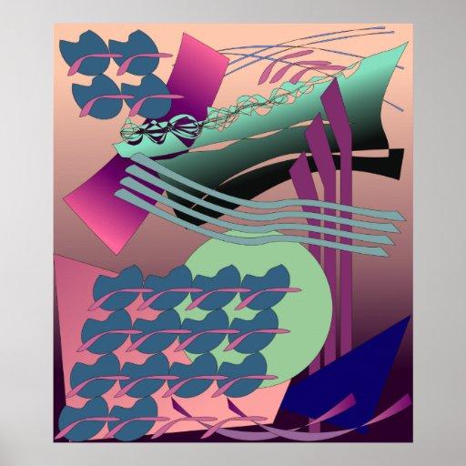 Pintura abstracta chillona de Digitaces Impresiones