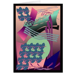 Pintura abstracta chillona de Digitaces Tarjeta De Felicitación