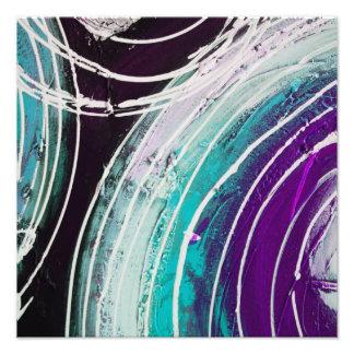 Pintura abstracta circular cojinete