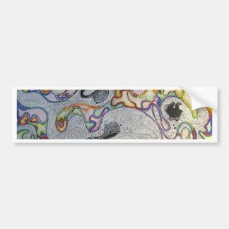 Pintura abstracta - colores posicional orientados pegatina de parachoque