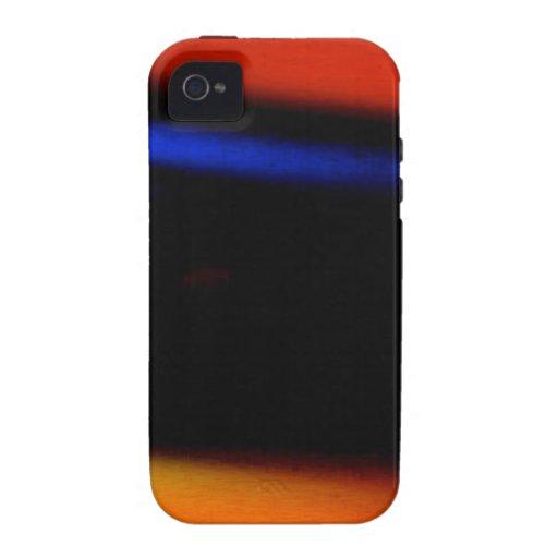 "Pintura abstracta colorida ""abrazo la oscuridad "" vibe iPhone 4 funda"