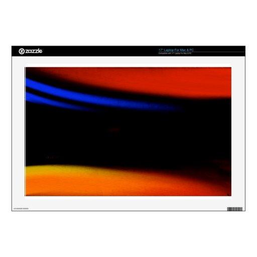 """Pintura abstracta colorida """"abrazo la oscuridad """" portátil 43,2cm skin"""