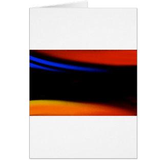 """Pintura abstracta colorida """"abrazo la oscuridad """" tarjeta de felicitación"""