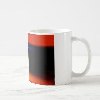 "Pintura abstracta colorida ""abrazo la oscuridad "" taza"
