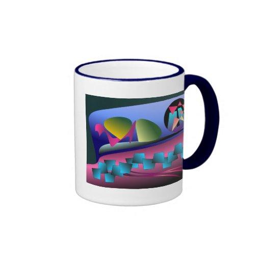 Pintura abstracta colorida de Digitaces Taza