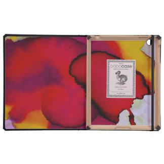 Pintura abstracta colorida de la acuarela iPad funda