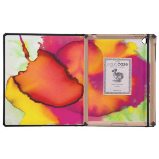 Pintura abstracta colorida de la acuarela iPad carcasa