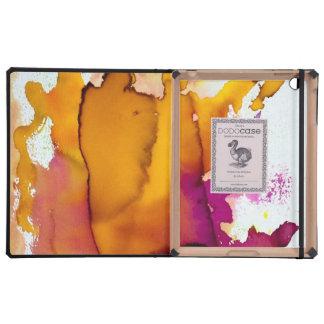 Pintura abstracta colorida de la acuarela iPad carcasas