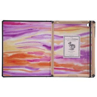 Pintura abstracta colorida de la acuarela iPad coberturas