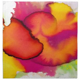 Pintura abstracta colorida de la acuarela servilleta imprimida