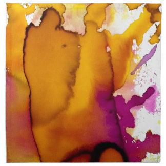 Pintura abstracta colorida de la acuarela servilleta