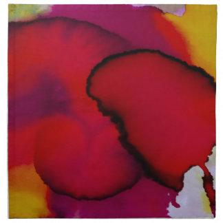 Pintura abstracta colorida de la acuarela servilleta de papel