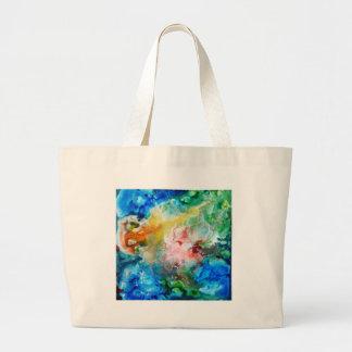 Pintura abstracta colorida de la galaxia bolsa tela grande