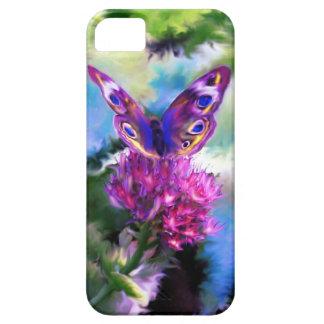 Pintura abstracta colorida de la mariposa funda para iPhone 5 barely there