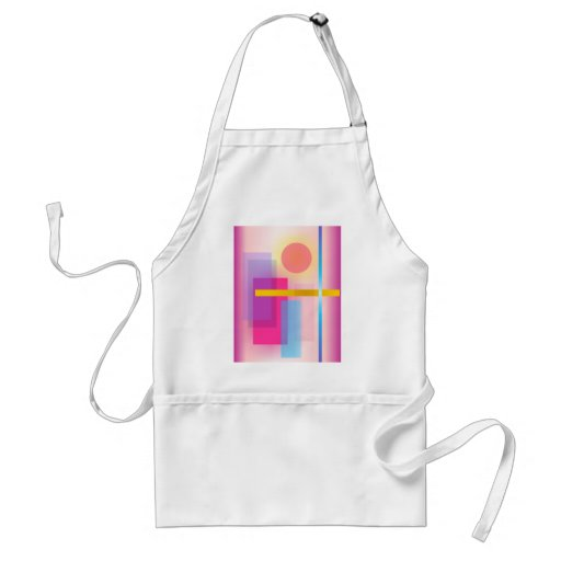 Pintura abstracta colorida delantales