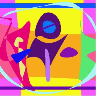 Pintura abstracta colorida libre de Digitaces Fotoescultura Vertical