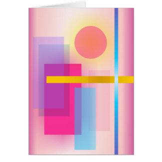 Pintura abstracta colorida tarjeta de felicitación