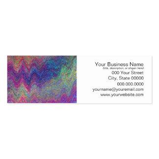 Pintura abstracta colorida tarjetas de visita mini