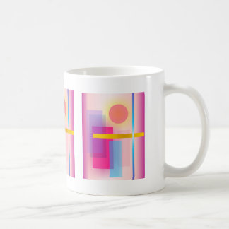Pintura abstracta colorida taza de café