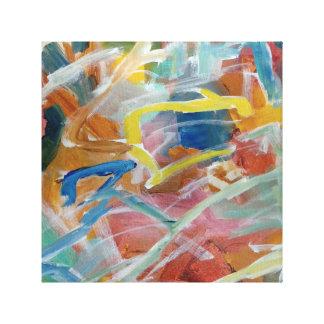 Pintura abstracta contemporánea impresión en lienzo