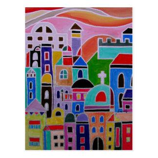 Pintura abstracta de Guanajuato México Postales