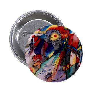 Pintura abstracta de Kandinsky 1913 Pin Redondo De 2 Pulgadas