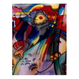 Pintura abstracta de Kandinsky 1913 Tarjetas Postales