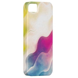 Pintura abstracta de la acuarela iPhone 5 carcasas