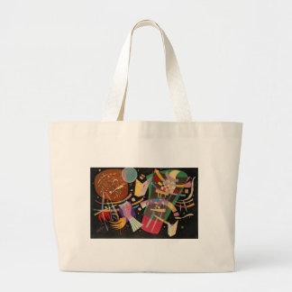 Pintura abstracta de la composición 10 de bolsa de tela grande