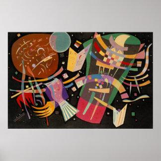 Pintura abstracta de la composición 10 de póster
