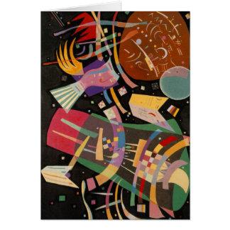 Pintura abstracta de la composición 10 de tarjeta de felicitación
