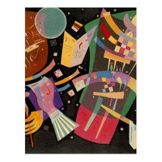 Pintura abstracta de la composición 10 de tarjetas postales