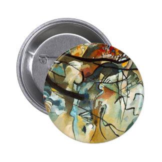 Pintura abstracta de la composición V de Kandinsky Pin Redondo 5 Cm