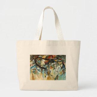 Pintura abstracta de la composición V de Kandinsky Bolsa De Tela Grande