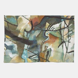 Pintura abstracta de la composición V de Kandinsky Toalla De Cocina